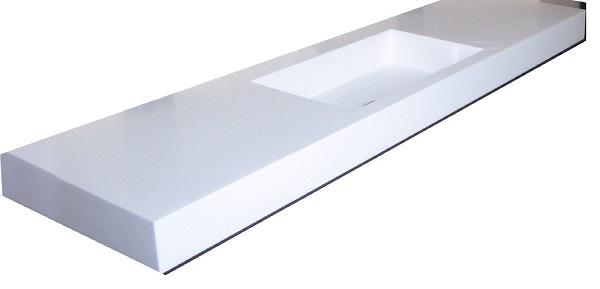 top bagno in corian : top bagno corian glacier white 150 cm - Lavabo Bagno In Corian Prezzi